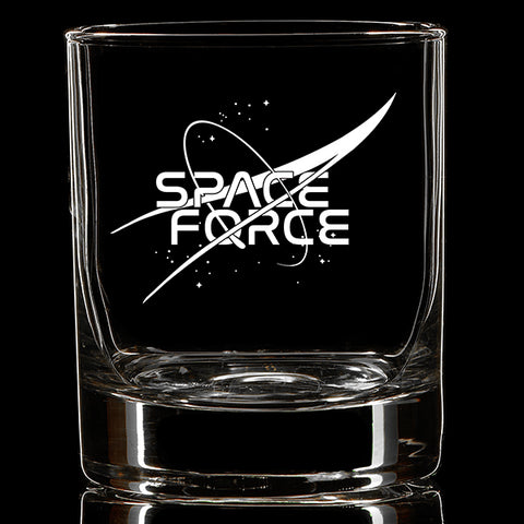 Space Force Whiskey Glass