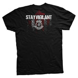 Never Outgunned Stay Vigilant Vintage T-Shirt