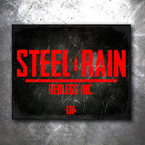 Steel Rain Tin Sign