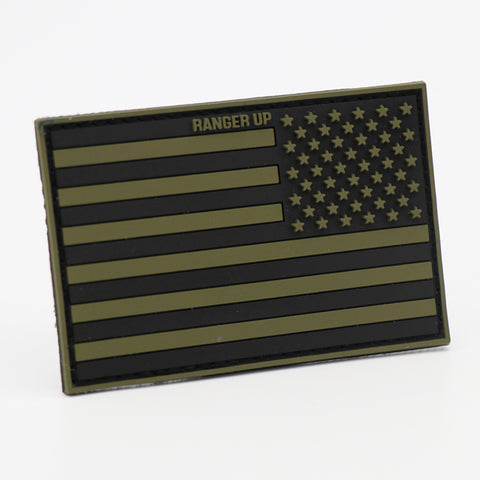 Subdued American Flag PVC Patch