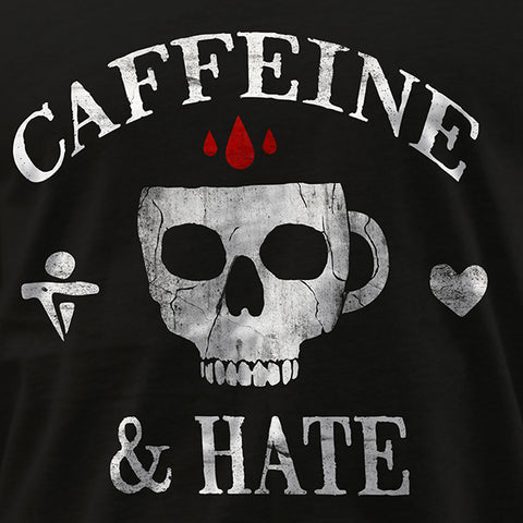 Caffeine & Hate Skull - Black - Tank