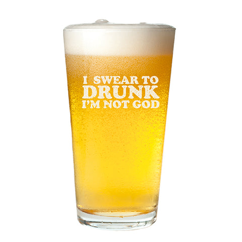 Swear to Drunk Pint Glass