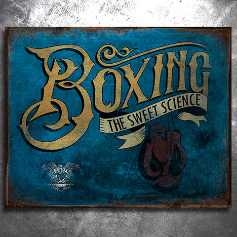 Boxing The Sweet Science Tin Sign