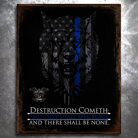 TBL Destruction Cometh Tin Sign