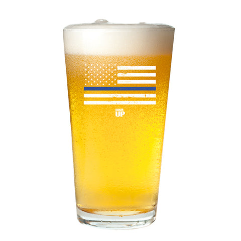 Thin Blue Line Pint Glass