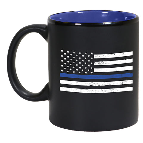 Thin Blue Line Flag Contrast Mug
