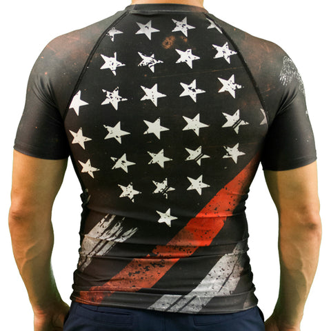 Thin Red Line Flag Rash Guard