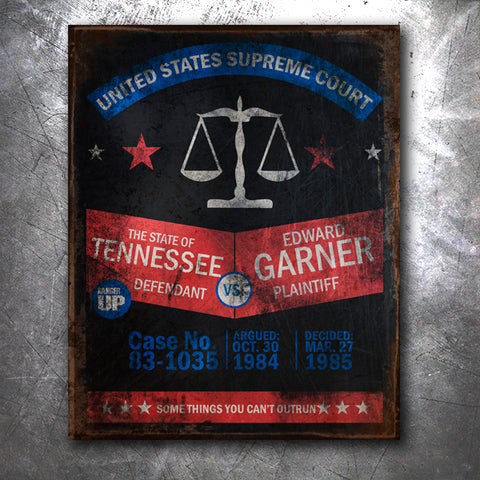 Tennessee Vs. Garner Tin Sign