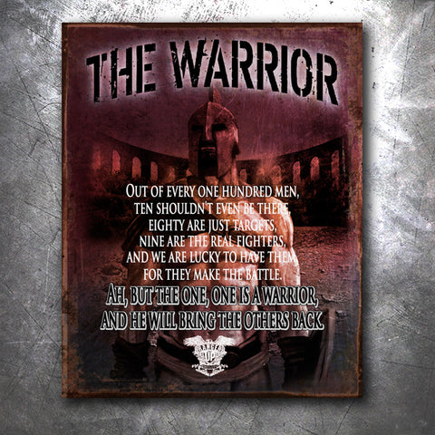 The Warrior Vintage Tin Sign