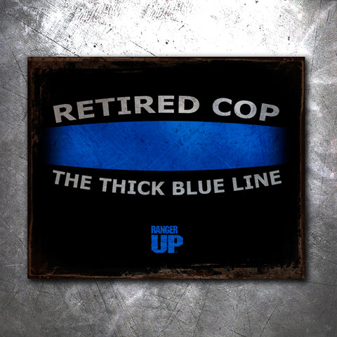 Thick Blue Line Tin Sign