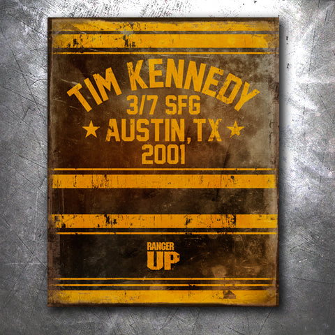 Tim Kennedy Fight Tin Sign