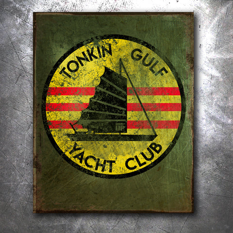 Tonkin Gulf Yacht Club Tin Sign