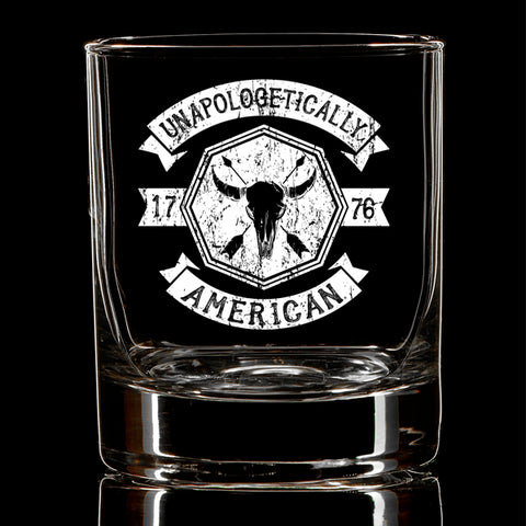 U.S. Bison Skull Whiskey Glass