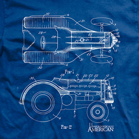 Tractor Blue Print T-Shirt