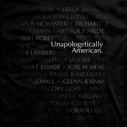 Unapologetically American Vietnam Memorial T-Shirt