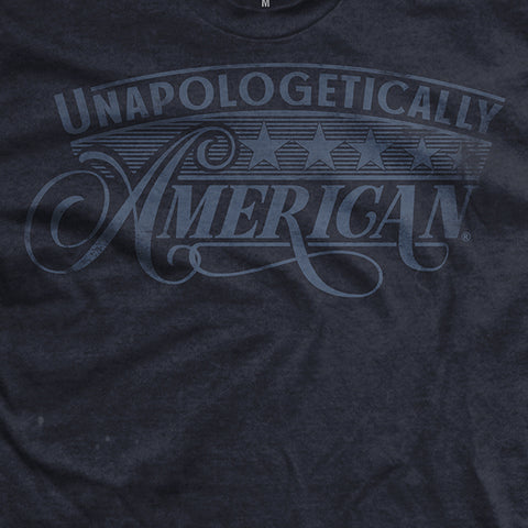 Unapologetically American Blue Washed Out T-Shirt