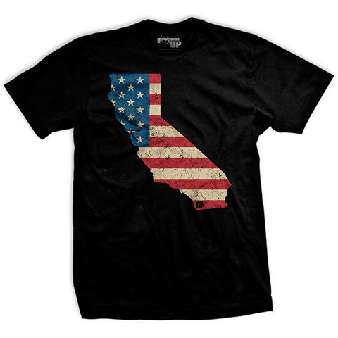 U.S Flag - California T-Shirt