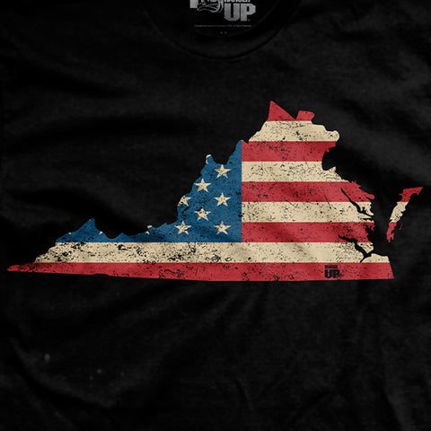 U.S Flag - Virginia T-Shirt