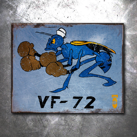 VF-72 Fighting Wasps Tin Sign