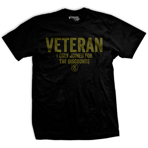 Veteran For The Discounts T-Shirt