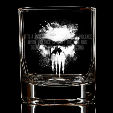 Violent Mistake Whiskey Glass