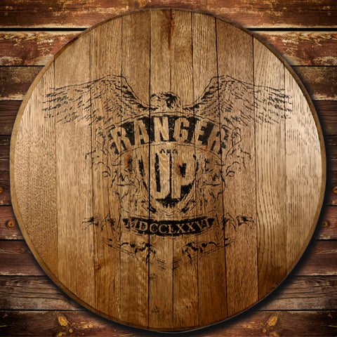 "Ranger Up ""War Eagle"" Barrel Head"