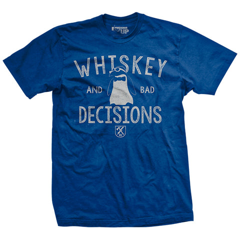 Whiskey & Bad Decisions - Summer Blue - T-Shirt