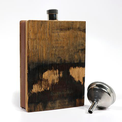 Whiskey and Bad Decisions Bourbon Barrel .50 Cal Bullet Flask