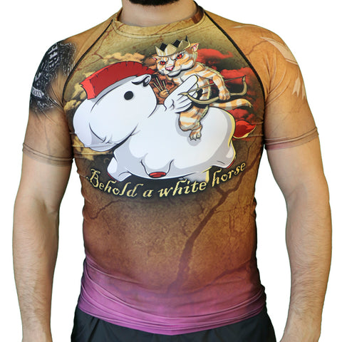 White Horse Short Sleeve Rash guard