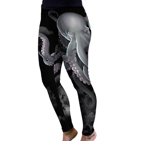 WOMEN'S White Octopus Leggings