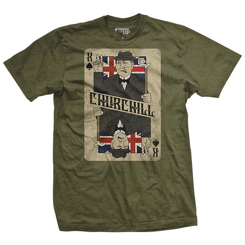 Winston Churchill Card T-Shirt
