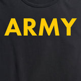 Women's Army Black and Yellow PT Tee