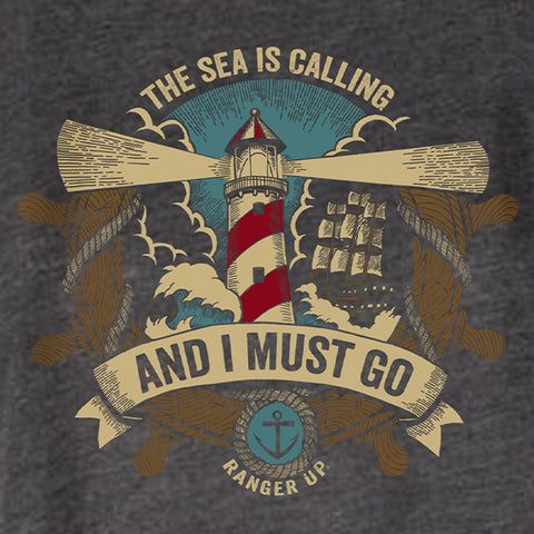 The Sea Is Calling High Neck Tank