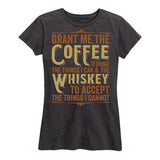 Women's Coffee & Whiskey Prayer Tee