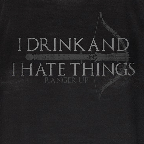 Women's I Drink and I Hate Things High Neck Tank