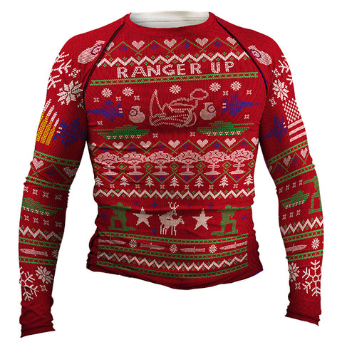 Christmas Sweater Long-Sleeved Rash Guard