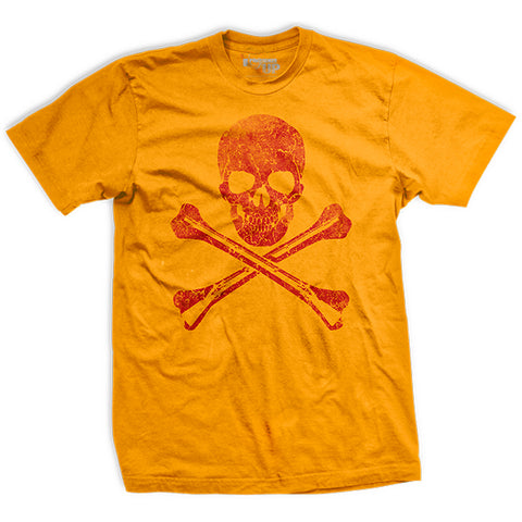 Yellow Hoist the Black Flag Ultra-Thin Vintage T-Shirt