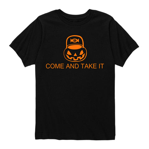Kids Halloween - Come And Take It Candy Shirt