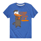 Kids Otter Come and Take It T-Shirt