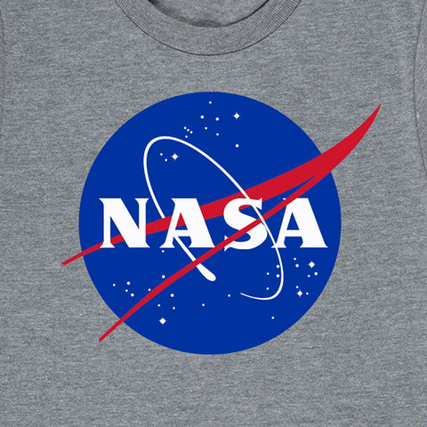 "Kid's NASA ""Meatball"" Insignia Tee Gray"