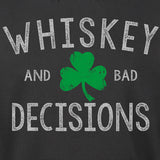 Whiskey And Bad Decisions Shamrock Hoodie