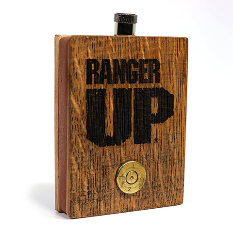 Ranger Up Bourbon Barrel .50 Cal Bullet Flask