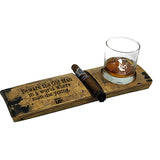 Old Man's Club Cigar and Whiskey Holder