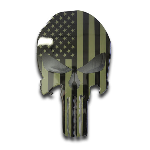 American Liquid Metal Subdued Skull Sign