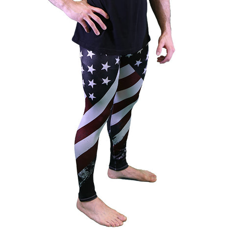 PREORDER MEN'S USA Leggings - Meggings