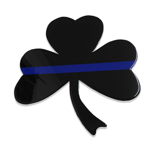 American Liquid Metal Thin Blue Line Shamrock Sign