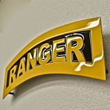 American Liquid Metal - Black and Yellow Ranger Tab Sign