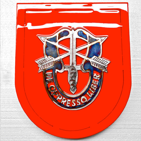 American Liquid Metal - 7th Special Forces Group Sign