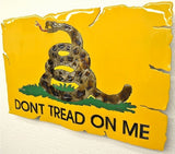 American Liquid Metal - Dont Tread on Me Flag Sign