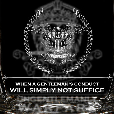 League of Ungentlemanly Warfare Whiskey Glass